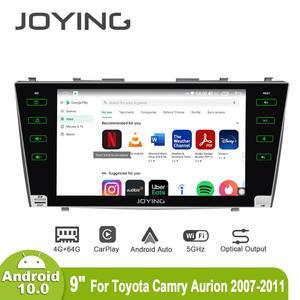 Image 2 - Android 10,0 9 inch 2 din radio auto 4GB + 64GB kopf einheit GPS Navigation Octa Core für toyota Camry 2007 2011 unterstützung 3G/4G DSP BT