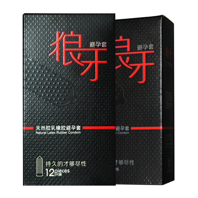 Durable Condoms Wolf Braces Ultra Thin Penis Sleeve Long Lasting Natural Latex Lubricated Condoms With Barbed Men Contraception