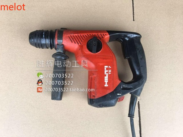 (used) HILTI TE7- Xilide Electric Hammer Chisel Broken Multi-functional Electric Drill Impact Hammer Drill Free Output