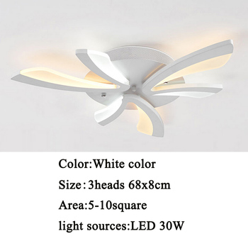 Led ceiling light for living room bedroom White/Black Simple Plafond led ceiling lamp home lighting fixtures AC90-260V 7