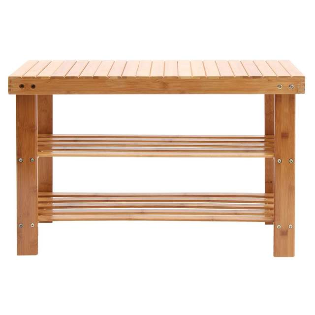 Wooden Entryway Shoe Bench 1