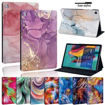 Watercolor Leather Stand Cover Case for Samsung Galaxy Tab A A6 710/Tab E S5E Tablet Wearable Heavy Protective Case for samsung galaxy tab s3 9 7 t820 t825 tablet smart cover tab s3 t820 9 7 inch leather cover case protective stand skin fundas