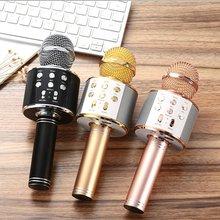 цена на Professional  Bluetooth Wireless Microphone Speaker Handheld Microphone Karaoke Mic Music Player Singing Recorder KTV Microphone