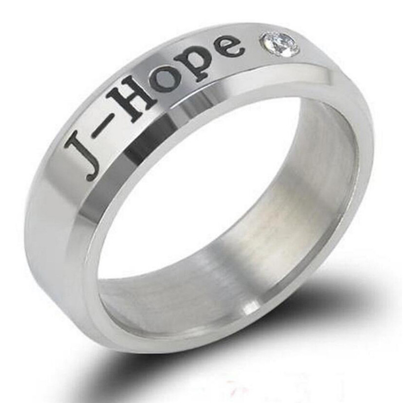 Image 5 - Kpop Ring Stainless Steel JHOPE Finger Rings Jewelry Rings Accessories for Men Women Female btss Bangtans Boys Jewelry-in Outdoor Tools from Sports & Entertainment