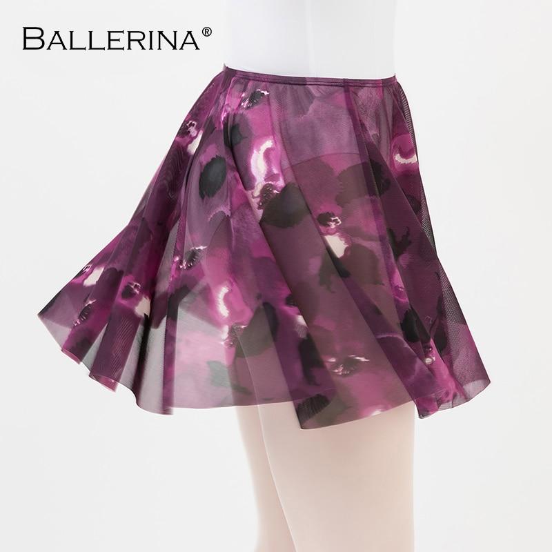 Ballet Dress Dance Leotard Women Skirt Dancewear Digital Printing Tutu Ballet Adulto Sexy Practice Skirt Ballerina 8154