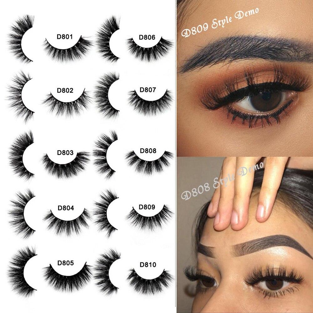 SOQOZ Eyelashes 3D Mink Lashes Natural Fluffy Eyelashes Thick Full Strip Lashes Soft Dramatic Eyelashes D80 Makeup Eye Lashes