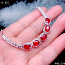 KJJEAXCMY fine jewelry 925 sterling silver inlaid natural ruby bracelet delicate female noble bracelet support testing kjjeaxcmy fine jewelry 925 sterling silver inlaid natural ruby female bracelet beautiful support detection