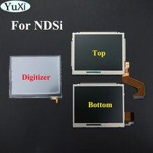 Górny górny dolny zamiennik ekranu wyświetlacza LCD YuXi dla Nintendo DSi dla ekranu dotykowego NDSi