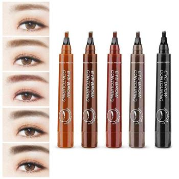 Women Makeup Sketch Liquid Eyebrow Contouring Pencil Waterproof Brown Eye Brow Tattoo Dye Tint Pen Liner Long Lasting Eyebrow