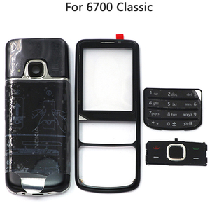 Image 4 - New 6700 Full Housing Case For Nokia 6700 Classic 6700C Rear Metal Battery Cover Front Middle Frame Plate Back Cover
