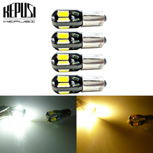 цена на 4pcs BA9S T4W 363 T11 5630 SMD 8 LED auto Clearance Lights car marker light parking Bulbs reading dome Lamp license plate light