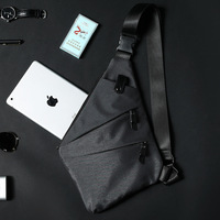 New dumpling chest bag fashion Oxford canvas chest bag Japanese style trend small cycling bag tide