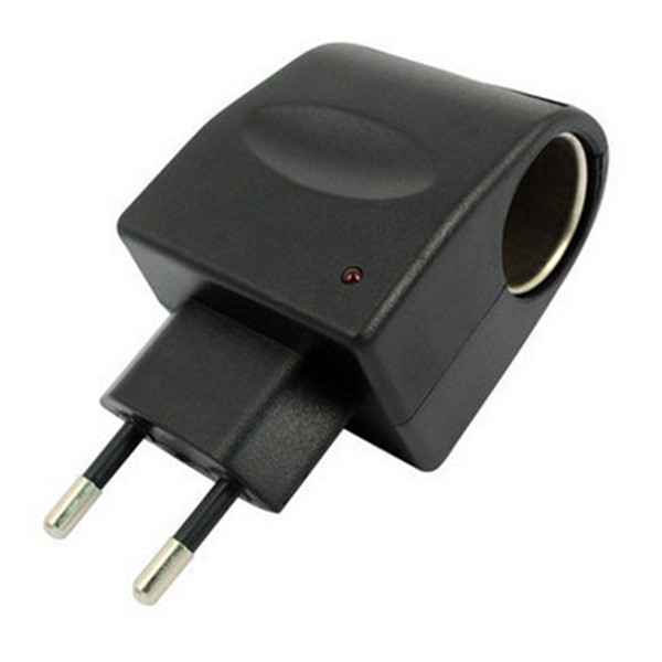 Domestic AC/DC Car  Lighter Converter Socket Adapter 220 V12V Balck