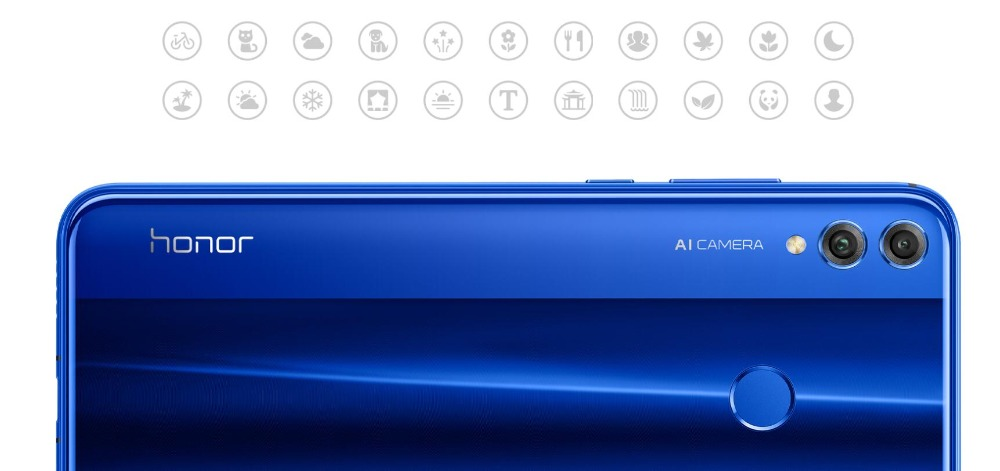 Huawei honor 8x telefones celulares 6.5 polegada