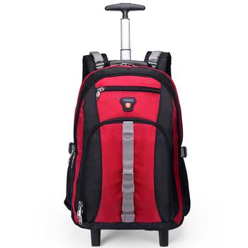 Mężczyźni walizka podróżna na kółkach plecak na kółkach kobiety biznes torba na kółkach plecak szkolny z kółkami torba na kółkach do walizki szkolnej tanie i dobre opinie TOURISTGEAR CN (pochodzenie) Bagaż podręczny ons Naprawiono kółka HL820