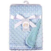 Stroller Blanket Baby Swaddle Newborn Quilt Air-Conditioner Fleece Velvet Infant Toddler