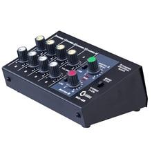 Микшерный пульт 8-канальный сетевой видеорегистратор Панель микрофон для караоке DJ микшер цифровая регулировка стерео ШТЕПСЕЛЬНАЯ ВИЛКА стандарта США