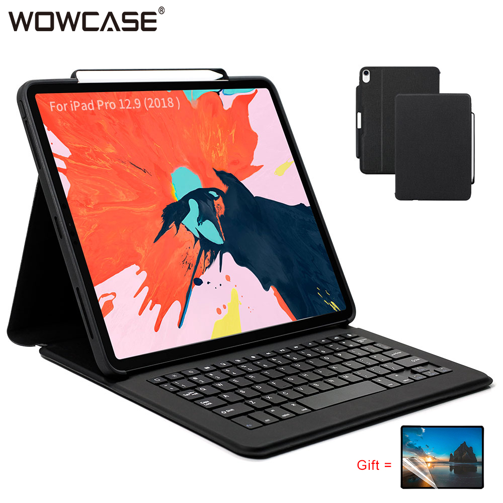 Ultra-Slim Backlit Keyboard+Soft Case Cover with Pencil Holder for iPad Pro 12.9