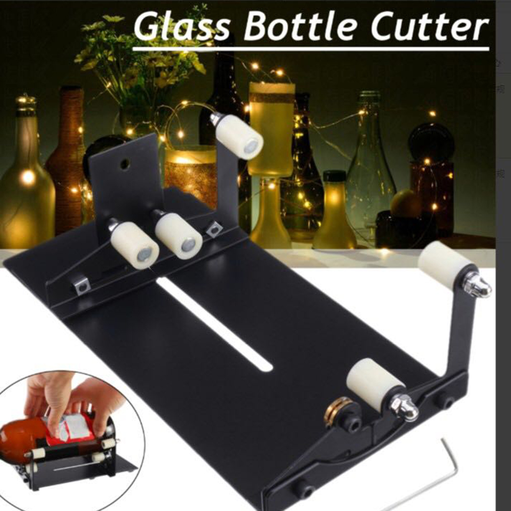 Professional Glass Bottle Cutter Smoothly Cutting Beer Wine Jar Accurate Cutting Machine 2-11mm DIY Recycle Cutting Tool Kit