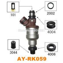 40 takım yakıt enjektörü tamir kiti için 1955002120 Toyota 3VZE 3.0 V6 yakıt enjektörü orings Pintle kapaklar mikro filtreler mühürler