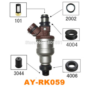 Image 1 - 40 takım yakıt enjektörü tamir kiti için 1955002120 Toyota 3VZE 3.0 V6 yakıt enjektörü orings Pintle kapaklar mikro filtreler mühürler