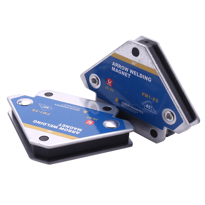 2 Pcs Magnetic Welding Fixture Ferrite Holding Auxiliary Positioner Locator Tools for Hardware Finishing Magnet Holder