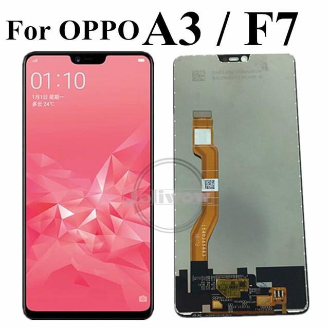 F7 LCD עבור OPPO A3 LCD תצוגה עם מסך מגע Digitizer עצרת החלפה עבור Oppo F7 CPH1819 CPH1821 / A3 CPH1837