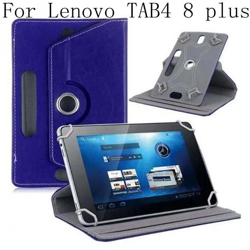 Tablet Stand Holder Smart PU Leather Cover For <font><b>Lenovo</b></font> TAB4 8 plus TB-8804F TB-8704N TB-8704X <font><b>8704</b></font> 360 Rotating Case+gifts image