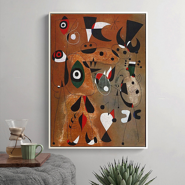 Joan Miro Abstract Paintings Printed on Canvas 2