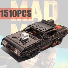 Yeni 1510 adet film serisi deli siyah Interceptor Max kas araba Supercar MOC-35846 yapı taşları tuğla oyuncak çocuk hediye