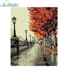Sdoyuno 60x75cm diy Краска по номеру пейзаж масляная краска