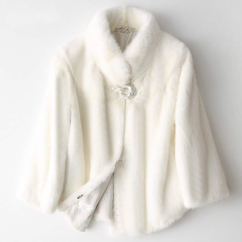 Arrival New Real Mink Fur Full Pelt Mink Fur Coat Female 2020 Short Luxury Natural Mink Coats Winter Jacket Women 8236C S