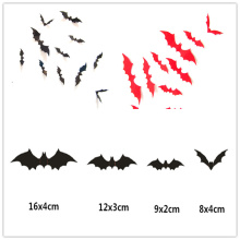 1200 pieces Newest Wall Sticker Black 3D DIY PVC Bat Wall Sticker Decal Home Halloween Decoration 1200 pieces newest wall sticker black 3d diy pvc bat wall sticker decal home halloween decoration