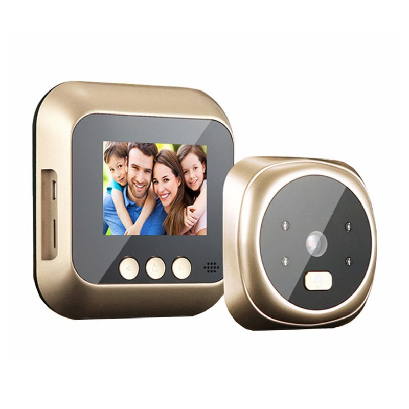 1Set 2.4 Inch HD IR Camera Electronic Video Peephole Viewer 135 Degree Digital Doorbell Cat Eye Night Vision