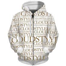 Fashion Hip Hop Men Zip Hoodie Hot Selling Streetwear 3D Sports Long Sleeve Zipper Hoodies