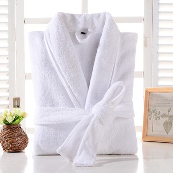 Terry Robe Men 100% Cotton Bathrobe Lovers Brown Robes Solid Towel Fleece Long Sleepwear Bridesmaid White - discount item  35% OFF Women's Sleep & Lounge