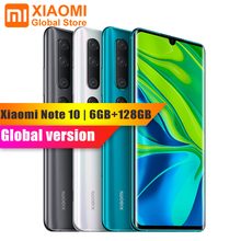 Global Version Xiaomi Mi Note 10 6GB RAM 128GB ROM 5260mAh Battery Smartphone 108MP Rear Camera Quick Charge Smart Mobile Phone