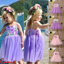 Summer Dress for Baby Girls Kids dress Sleeveless Mesh Floral Party Wedding Princess Dresses Children Clothing Vestidos 2019 kseniya kids 2018 spring summer new children s clothing lace princess mesh lace sleeveless girls dresses for party and wedding