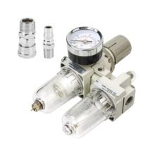 AC2010 02 ידני ניקוז אספקת אוויר משאבת מדחס מסנן לחות פנאומטי וסת לחץ שמן מים מפריד שני חלקים