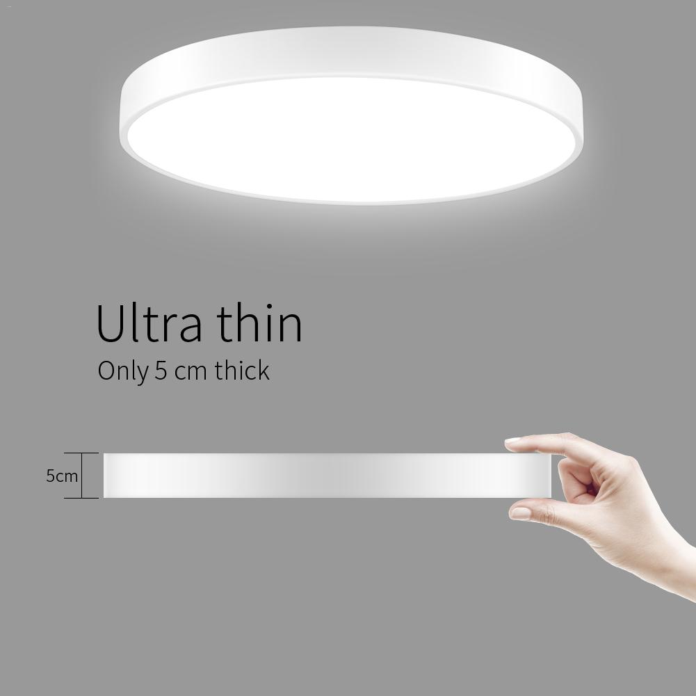 20W Ultra Thin Round LED Ceiling Down Light Bathroom Kitchen Living Lamp Day Cool White Stepless Dimmable