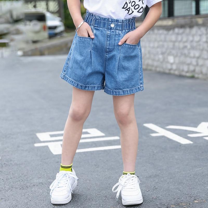 Fashion Kids Girl Short Jeans Pants Korean Children Denim Shorts Big Girls Clothes Summer Loose Short Trousers for Teenage 4-13Y 1