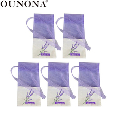 OUNONA 10pcs Lavender Bags Floral Printing Sachets Flower Bag Fragrance Pouch for Relaxing Sleeping Portable Car Aromatherapy