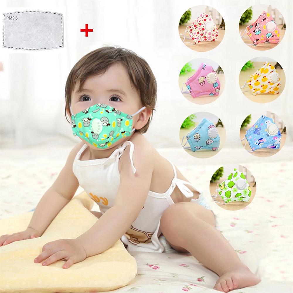 10 20 Pcs PM2.5 Mouth Mask Pad Kids Breath Valve Anti Haze Breathable Mask Anti Dust Mouth-Muffle Respirator Face Masks Children