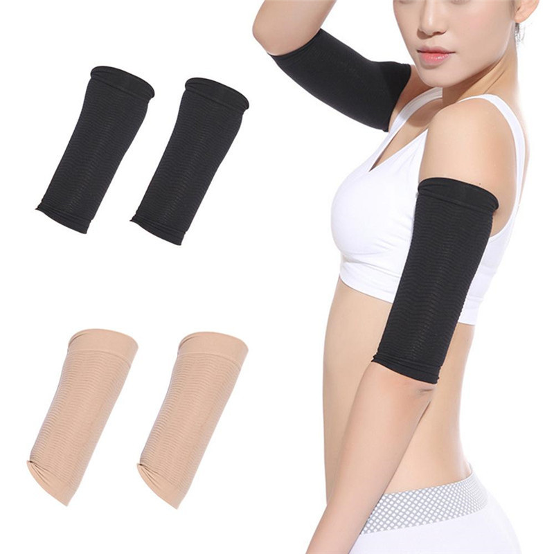2020 Women Elastic Compression Arm Warmers Weight Loss Shaper Slimming Calories Arm Sleeves Support Elbow Sock Massager Arm Wrap