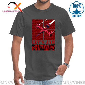 CowBoy Bebop 3, 2, 1 let's jam Awesome Artsy Male T shirt Heavy Metal Style Men's Cool Sleeve T-shirt Inspired Design Top Tshirt image