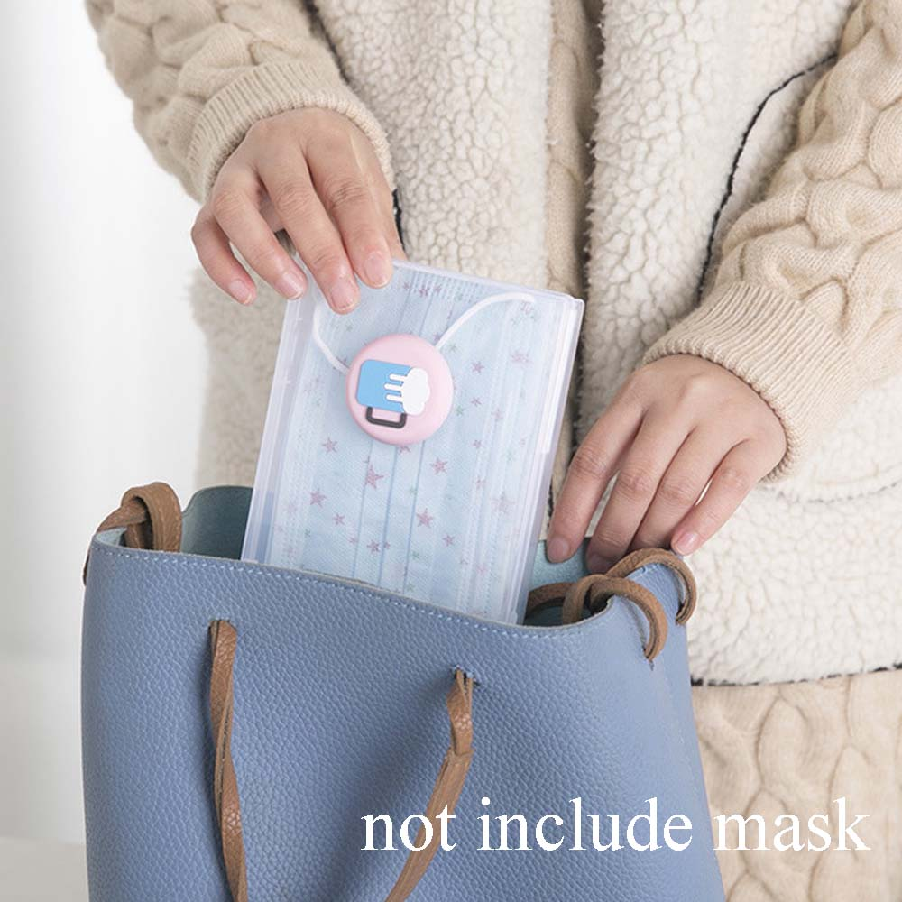 Mask Storage Clip Storage Portable Mask Storage Clip Mask Piece Transparent Moistureproof Dustproof Storage Box Mask Storage Box