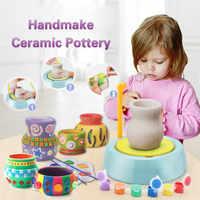 Diy handmake cerâmica máquina de cerâmica crianças artesanato brinquedos para meninos meninas rodas de cerâmica artes e artesanato brinquedo da criança melhor presente de natal