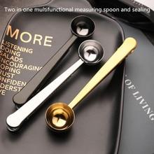 Sealed-Clip Stainless-Steel Measuring-Spoon Milk-Powder Coffee-Bean Multifunctional Tea