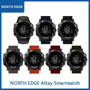 Men's Digital Watch North Edge ALTAY Waterproof 50M Running Altimeter Barometer Compass Thermometer Army Sports Smart Watches