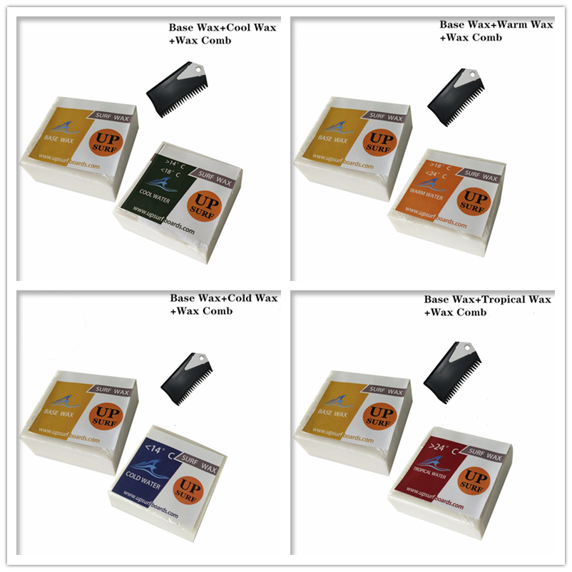 SUP Surf Wax Base Wax+Cold/Cool/Warm/Tropical Water Wax+Wax Comb Favorable Combo